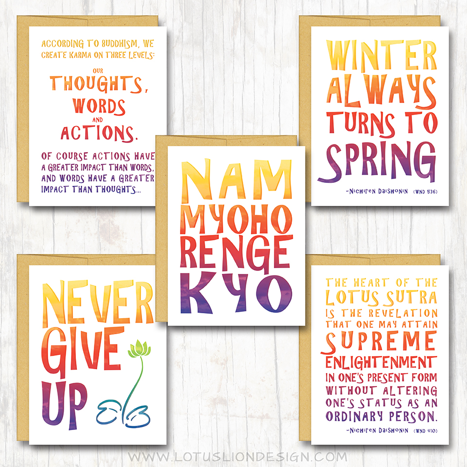 Nichiren buddhist greeting card assortment box set of 10 cards loading kristyandbryce Image collections